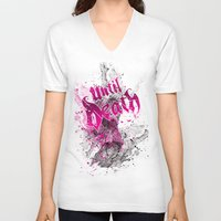 splatter V-neck T-shirts featuring Splatter by Until Death Clothing
