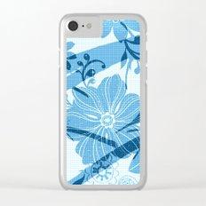 Bird in blue Clear iPhone Case
