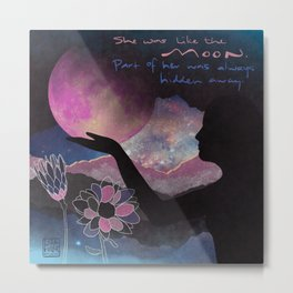 Like the Moon Metal Print