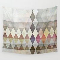 grunge Wall Tapestries featuring Grunge K7 by thinschi