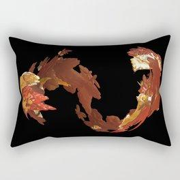 Spiral Flames Rectangular Pillow