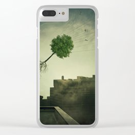 Greening of the foggy town Clear iPhone Case