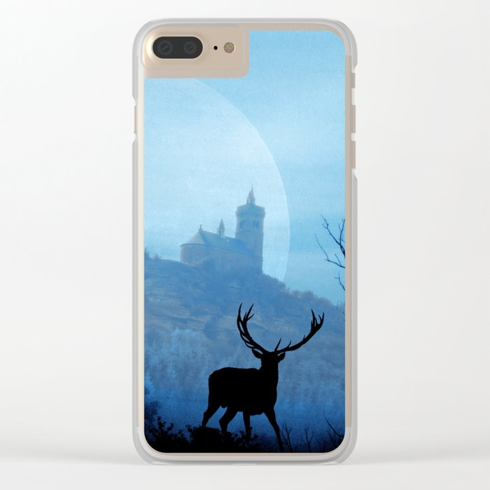 Stag moon Clear iPhone Case