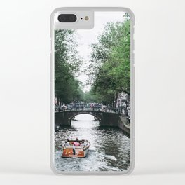Canal Cruise Clear iPhone Case