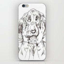 Sad Bloodhound iPhone Skin