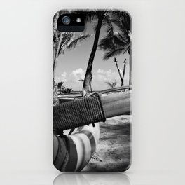 Kuau Palm Trees Hawaiian Outrigger Canoe Paia Maui Hawaii iPhone Case