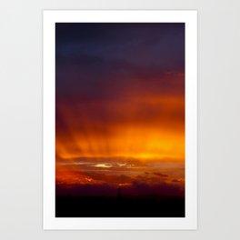 Holy Sunset Art Print