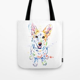 Corgi Watercolor Painting Pet Portrait Tote Bag