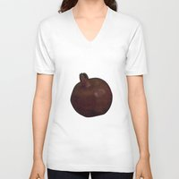 pomegranate V-neck T-shirts featuring Pomegranate by Antonina Sotnikova