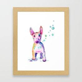 Terrier Bubbles Framed Art Print