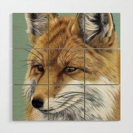 Fox Portrait 01 Wood Wall Art