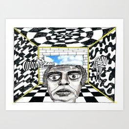 Cellules de Grisements Art Print