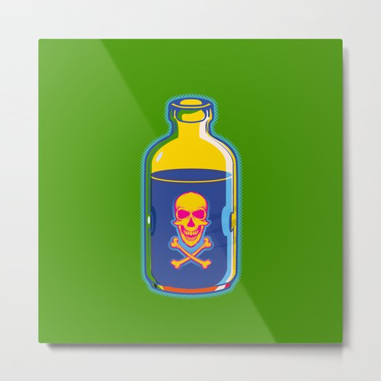 psychedelic poison bottle Metal Print