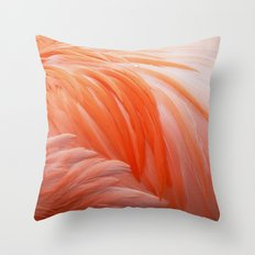 FLAMINGO FLAME Throw Pillow