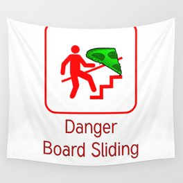 Danger Pizza Wall Tapestry