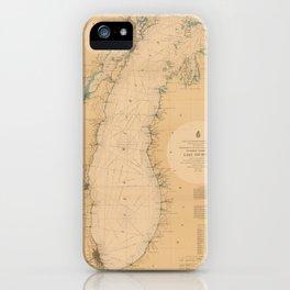 Map of Lake Michigan 1898 iPhone Case
