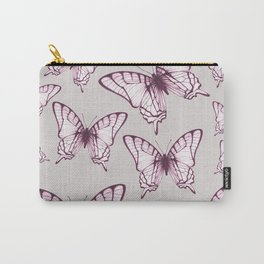 butterfly pattern in purple Carry-All Pouch