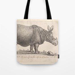 Vintage Rhino Tote Bag