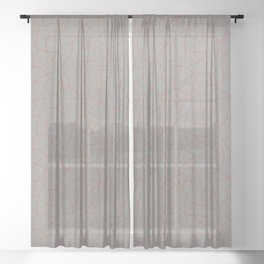 Cavern Clay SW 7701 Abstract Crescent Shape Pattern on Slate Violet Gray SW9155 Sheer Curtain