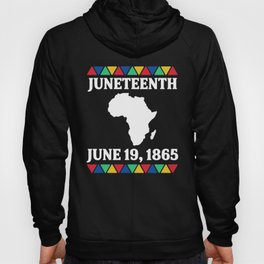 Juneteenth Map Colors Black African American Flag Pride graphic Hoody
