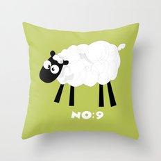 Sheep Number 9.... Throw Pillow