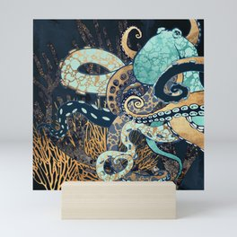 Metallic Octopus II Mini Art Print