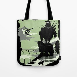Silhouette of the Colossus Tote Bag
