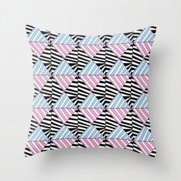 Symetric triangle 6 -vichy, gingham,strip,triangle,geometric, sober,tartan,mandala Throw Pillow