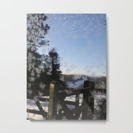 Frosted Windowpane Metal Print