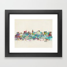 Madison Wisconsin skyline Framed Art Print