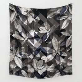 Dark leaves Wall Tapestry
