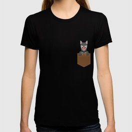Cute & Funny Pocket Puppy for Dog Lovers T-shirt