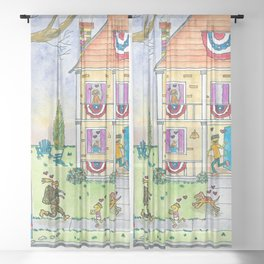 Welcome Home Soldier II Sheer Curtain