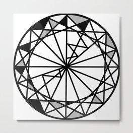 Diamond - round cut geometric design Metal Print