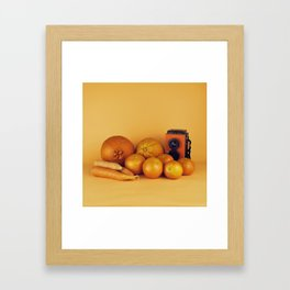 Orange carrots - still life Framed Art Print