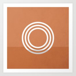Portals - The Circle - Rust Art Print