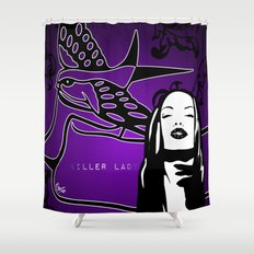 KILLER LADY PURPLE Shower Curtain