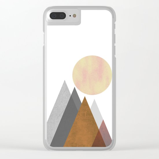 The Gathering, Geometric Landscape Art Clear iPhone Case