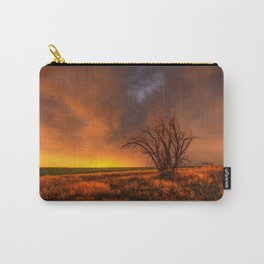 Fascinations - Warm Light and Rumbles of Thunder in Oklahoma Carry-All Pouch