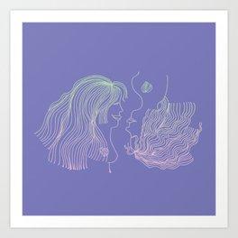 Girl and Girl Art Print