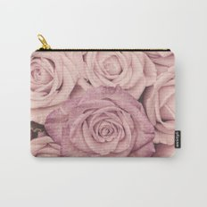 Some people grumble - Pink rose pattern- roses Carry-All Pouch