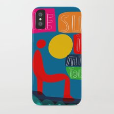 The sun is mine today illustration iPhone X Slim Case