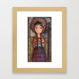 Saint Kateri by Flor Larios Framed Art Print