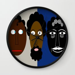bbnyc 3 generations of guys Wall Clock