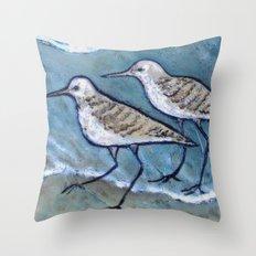 Two By Sea Shore Birds  Throw Pillow