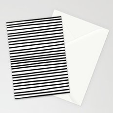 Striped black and white Stationery Cards