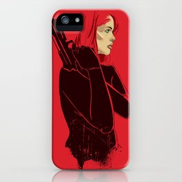 Woman in Red iPhone Case