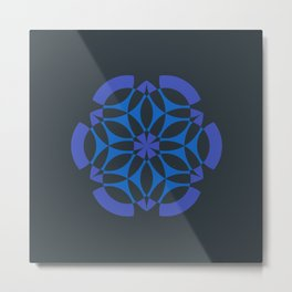 Stealthy sense | Abstract sacred geometry | Aliens crop circle Metal Print