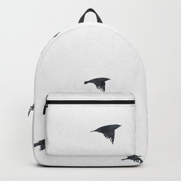 Ravens Birds in Black and White Backpack