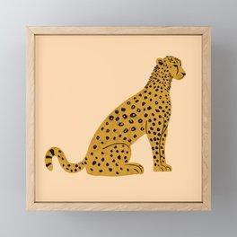 Sitting Leopard, Leopard Print, Leopard Art, Leopard Drawing, Leopard Illustration Framed Mini Art Print